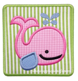 #1039 Whale Patch Applique Design