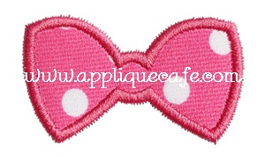 Add a Bow Applique Design