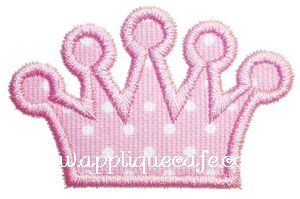 Add a Crown Applique Design