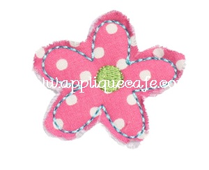 Add on Raggy Flower Applique Design