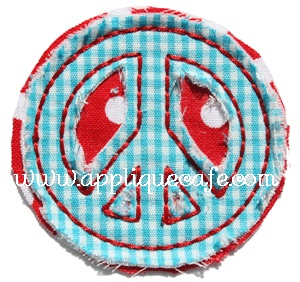 Add a Peace Sign Applique Design