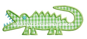 Alligator Applique Design