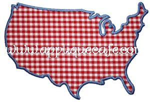 America Applique Design