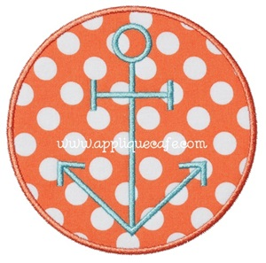 Anchor Patch Applique Design