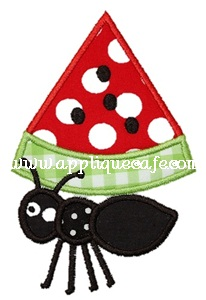 Watermelon Ant Applique Design