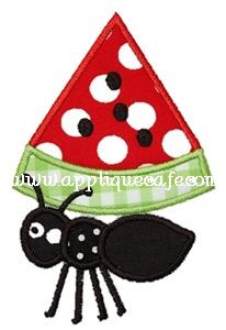 Watermelon Ant Applique Design