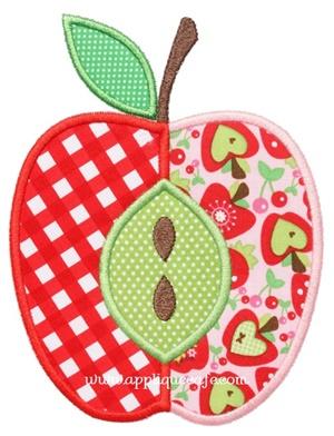 Apple 3 Applique Design