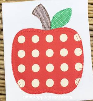 #1040 Apple-blanket Applique Design