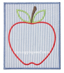 Apple Patch 2 Applique Design