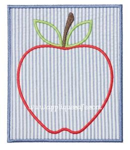 Apple Patch 2 Applique Design