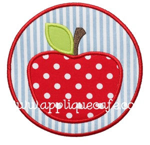 Apple Patch Applique Design
