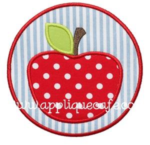 Apple Patch Applique Design