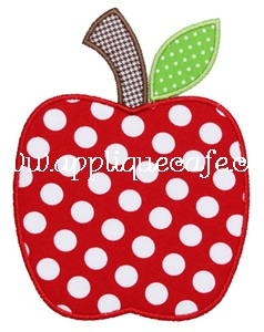 Apple-satin Applique Design