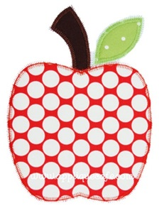 Apple-zig zag Applique Design