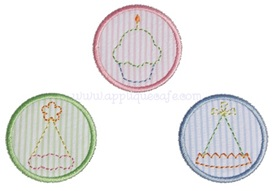Baby Birthday Patches Applique Design