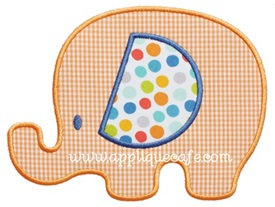 Baby Elephant 2 Applique Design
