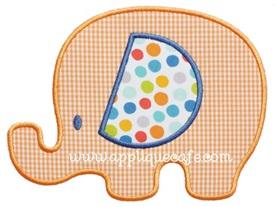 Baby Elephant 2 Applique Design