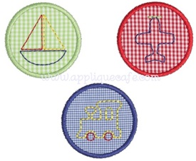 Baby Transportation Patches Applique Design