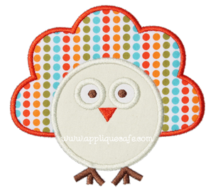 Baby Turkey Applique Design