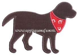 Bandana Dog Applique Design
