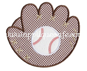 Baseball Glove Applique Design