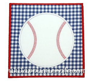 Baseball Patch Applique Design