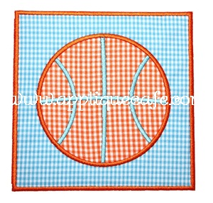 Basketball Patch Applique Design