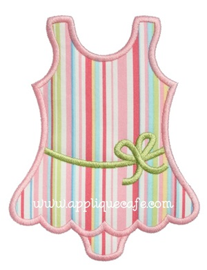 Bathing Suit Applique Design