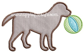 Beach Ball Dog Applique Design
