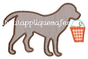 Beach Dog Applique Design