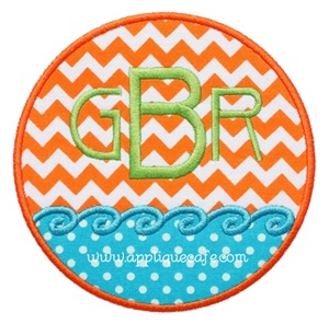 Beach Patch Applique Design