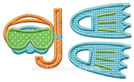 #936 Beach Toys 2 Applique Design