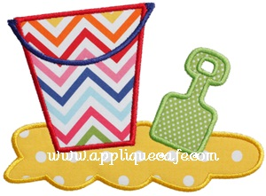 Beach Toys Applique Design