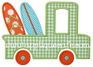 Beach Truck Applique Design
