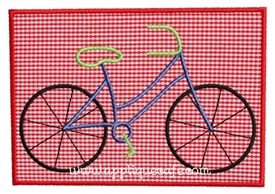 Bicycle Patch Applique Design