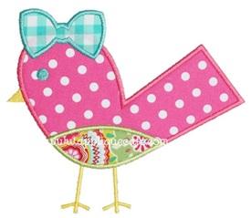 Bird 4 Applique Design