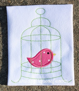 Bird Cage 2 Applique Design