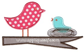 Birds 2 Applique Design