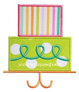 Birthday Cake 2 Applique Design