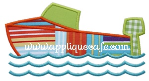 #631 Boat Applique Design