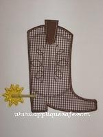Cowboy Boot Applique Design