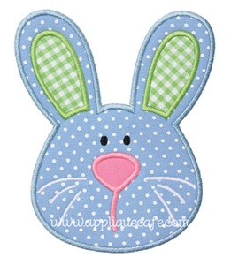 Boy Bunny Applique Design