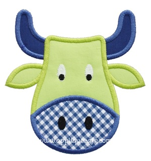 Bull Applique Design