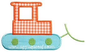 Bulldozer Applique Design