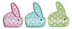 Bunnies Applique Design