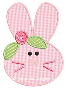 Bunny Face 2 Applique Design