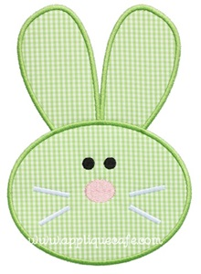 Bunny Face 3 Applique Design