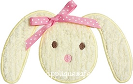 Bunny Face Applique Design