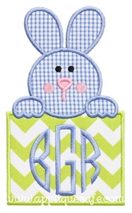 Bunny Patch 4 Applique Design