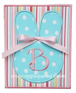 Bunny Patch Applique Design